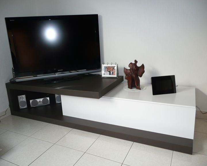 Meuble tv placo for Meuble tele en coin