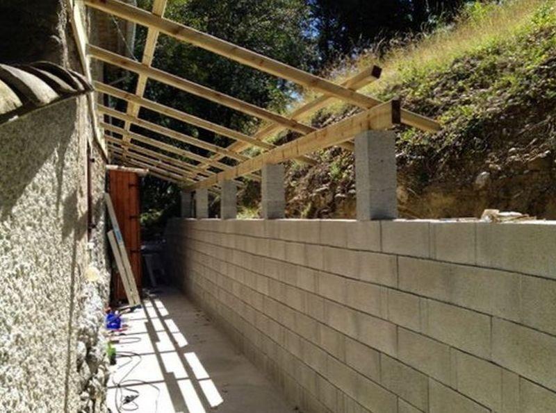 Couvrir terrasse avec plaques imitation tuiles - Charpente pour tole imitation tuile ...