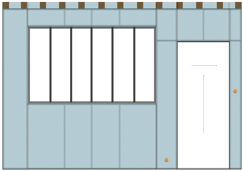 Construire une cloison en place pouvant accueillir une for Fabriquer une cloison verriere