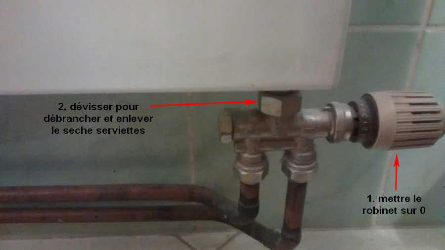Demande avis avant de d brancher s che serviettes - Purger un radiateur seche serviette ...