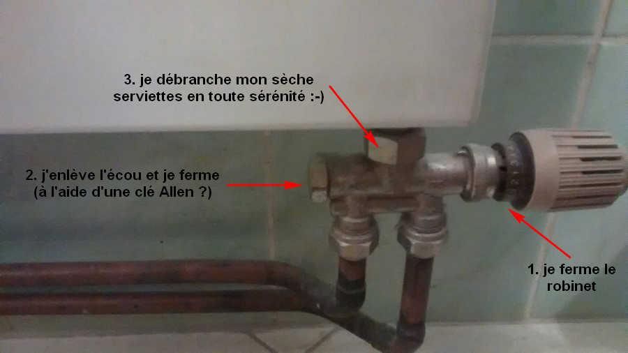 Demande avis avant de d brancher s che serviettes - Comment purge t on un radiateur ...