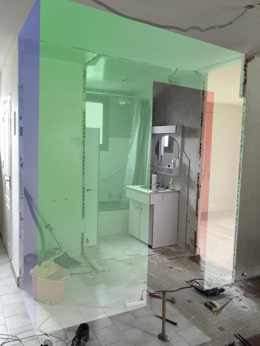 Comment prolonger des cloisons en briques creuses pour - Monter une cloison dans une salle de bain ...