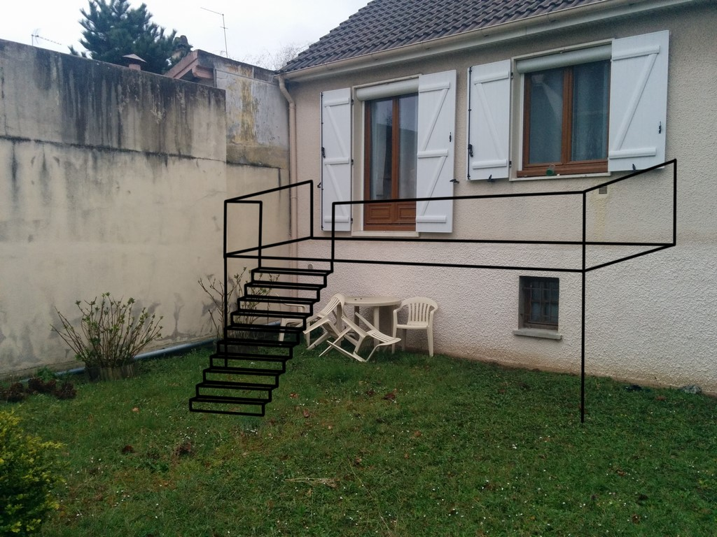 terrasse escalier. Black Bedroom Furniture Sets. Home Design Ideas