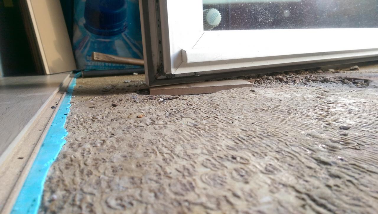 Comment Mettre Une Barre De Seuil problème pose parquet stratifié et porte fenêtre