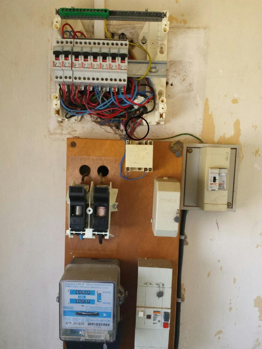 Section cable entre compteur edf et tableau for Section cable tableau electrique