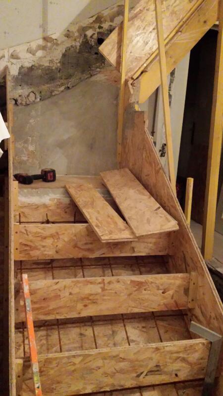 Probl me escalier b ton - Coffrage escalier beton quart tournant ...