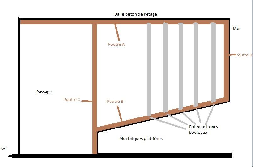 fixation poteau pour rambarde du sol au plafond. Black Bedroom Furniture Sets. Home Design Ideas