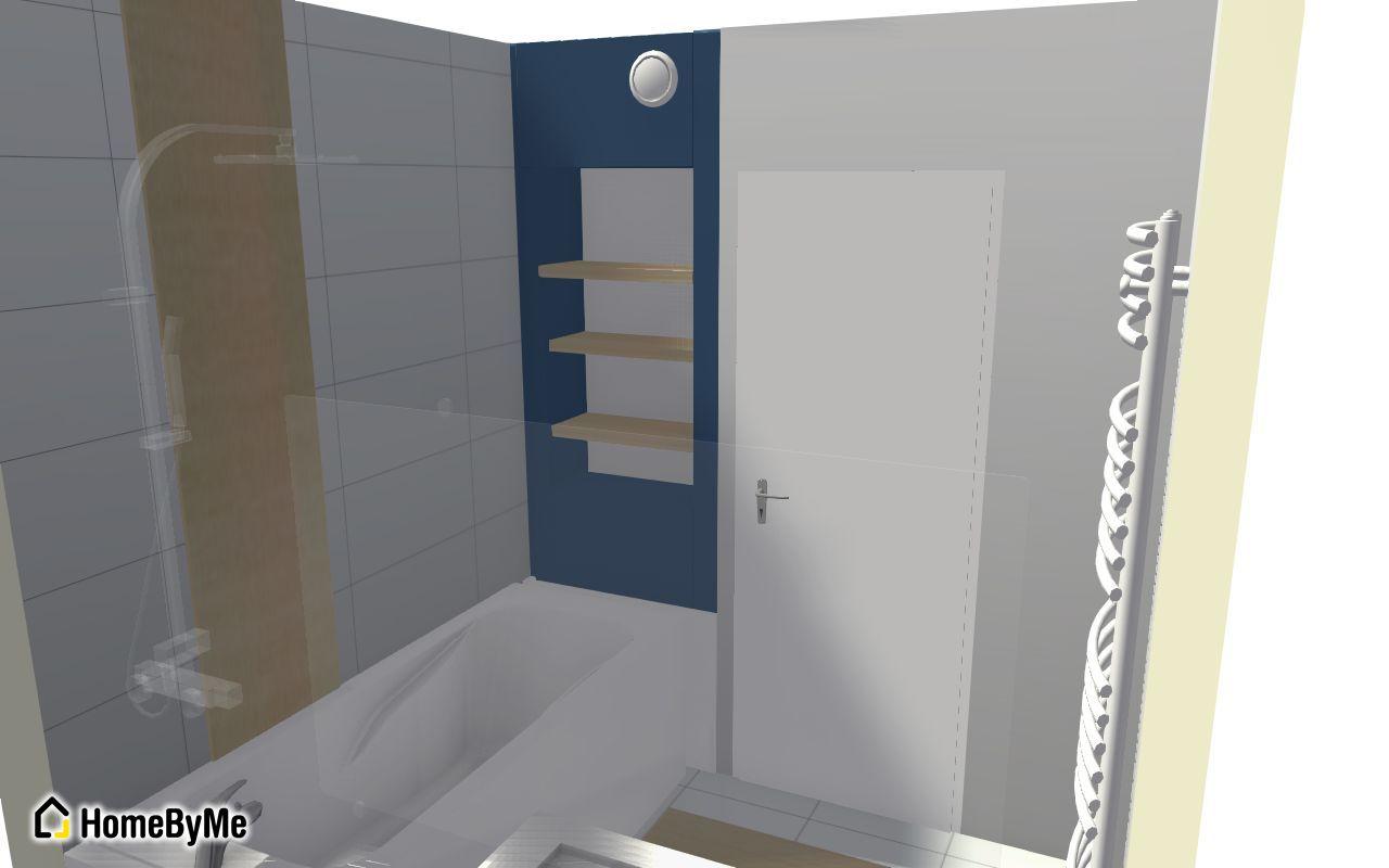 Création niche salle de bain