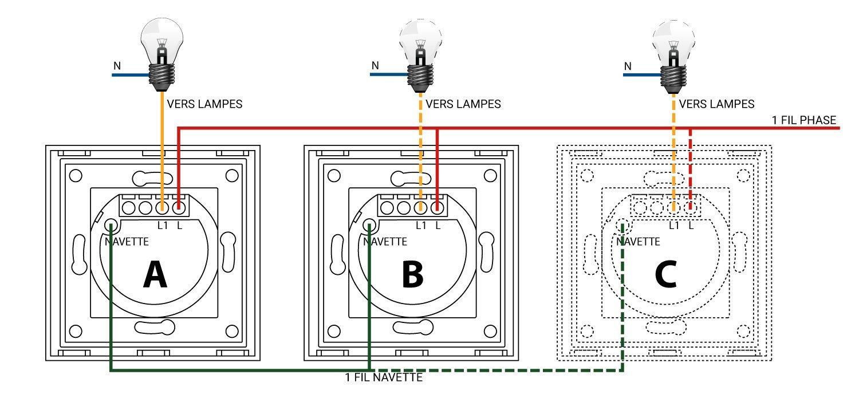 Symboles sur un iinterrupteur va et vient lumtouch tactile for Changer interrupteur va et vient