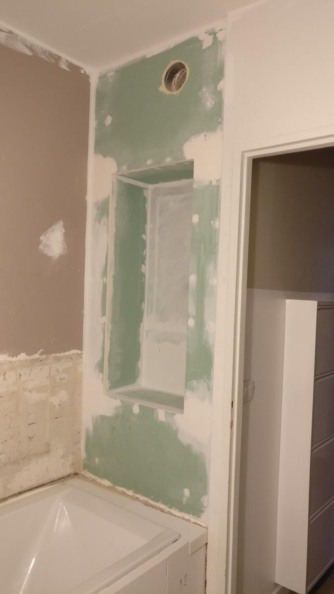 Comment Carreler Une Salle De Bain Jusqu'Au Plafond ~ aide calepinage carrelage mural