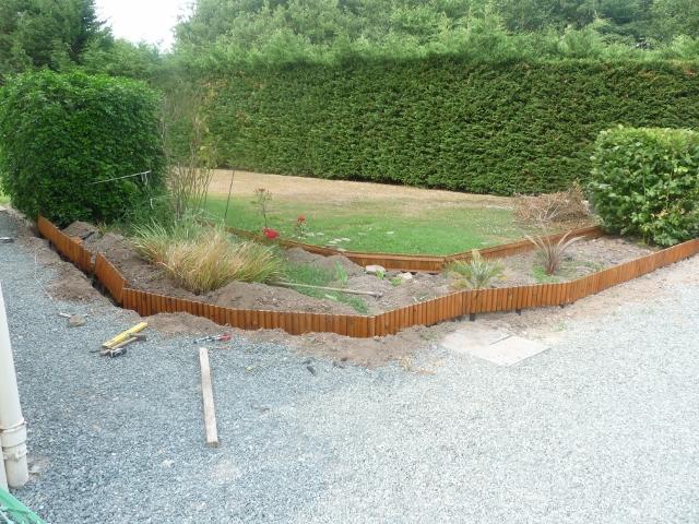 bordures sur terrain en legere pente - Terrain En Pente