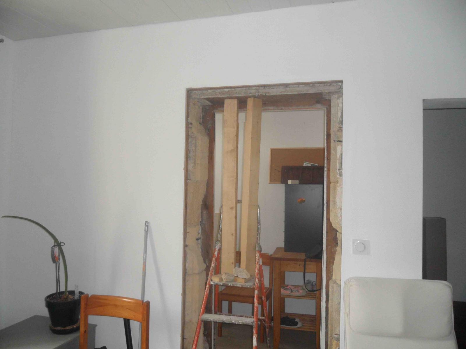 dtruire un mur porteur la mise en place de cette double chane a permis de supprimer un poteau. Black Bedroom Furniture Sets. Home Design Ideas