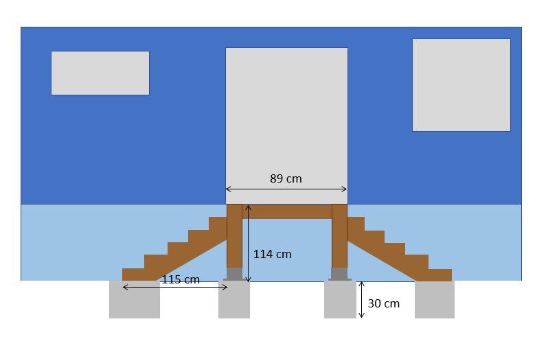 dimensionnement escalier ext rieur en bois. Black Bedroom Furniture Sets. Home Design Ideas