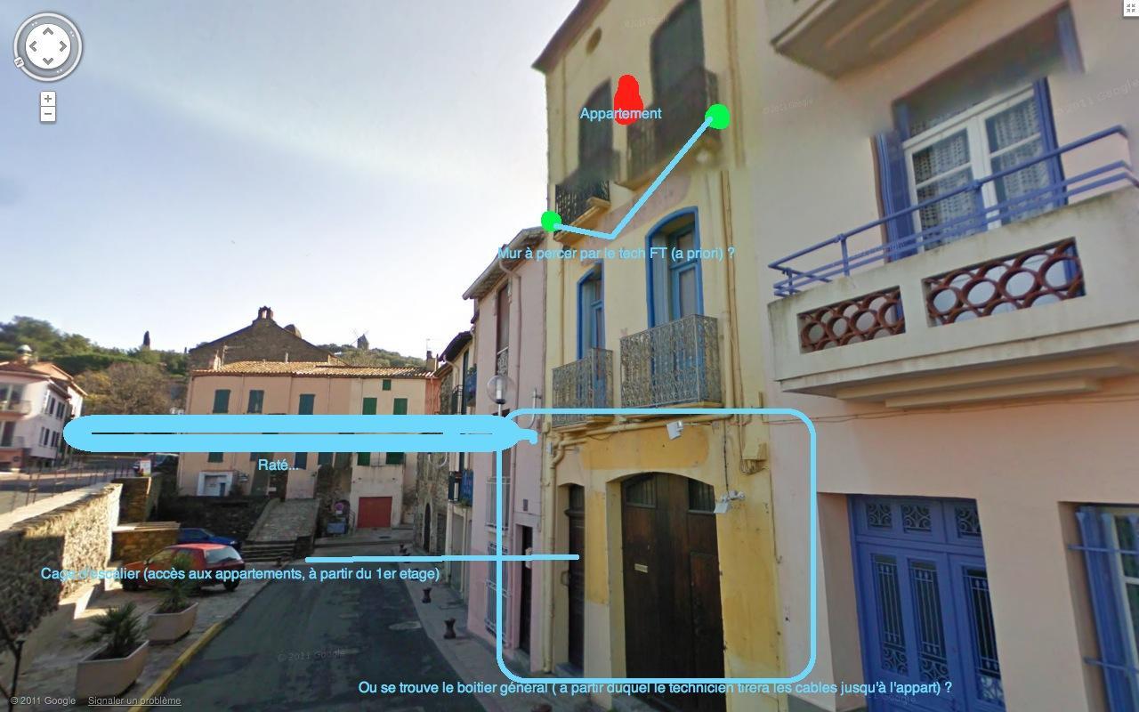 Adduction ligne t l phonique appartement jamais raccord for Boitier exterieur france telecom