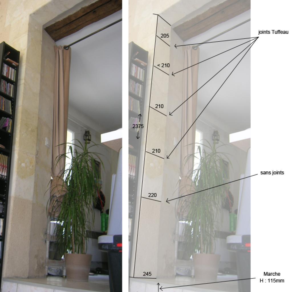 Poser une porte et son encadrement dans sur mur de tuffeau - Porte et encadrement ...
