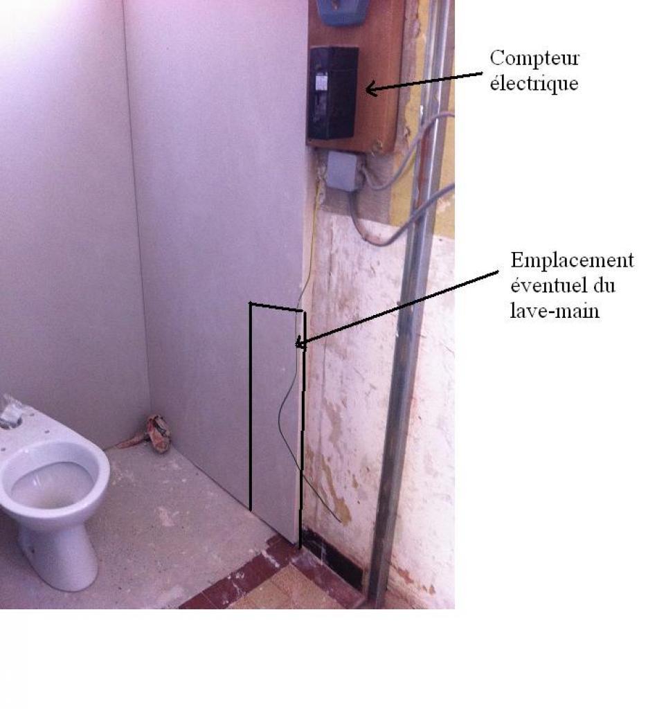 Tableau Pour Mettre Dans Les Toilettes emplacement du lave-main dans les toilettes