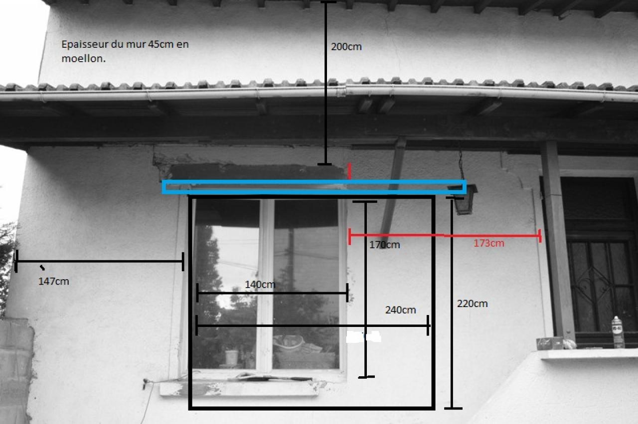 Agrandissement fenetre pour baie vitr - Comment transformer une porte vitree ...