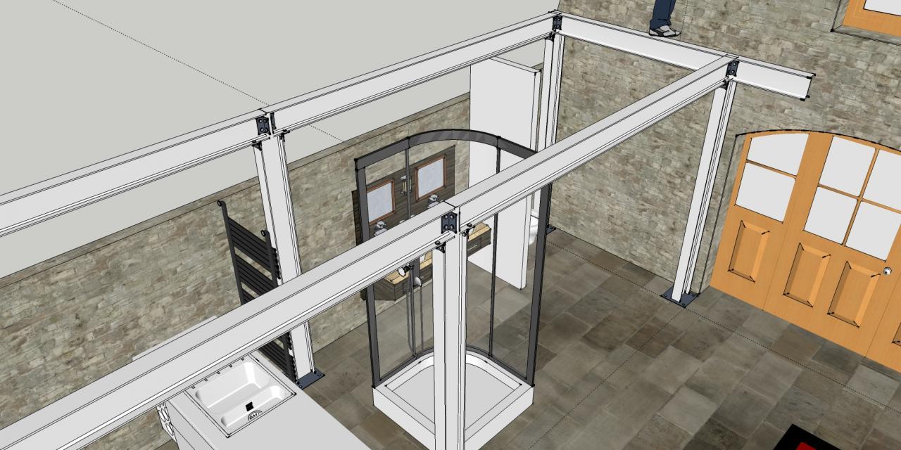 cloisonnement partir de structure ipn. Black Bedroom Furniture Sets. Home Design Ideas