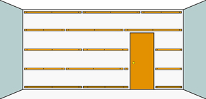Pr paration des murs et plafonds pour la pose de lambris for Pose lambris pvc au plafond sur tasseaux