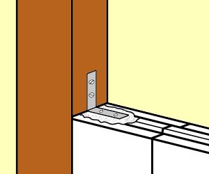 monter une cloison en carreaux de pl tre. Black Bedroom Furniture Sets. Home Design Ideas