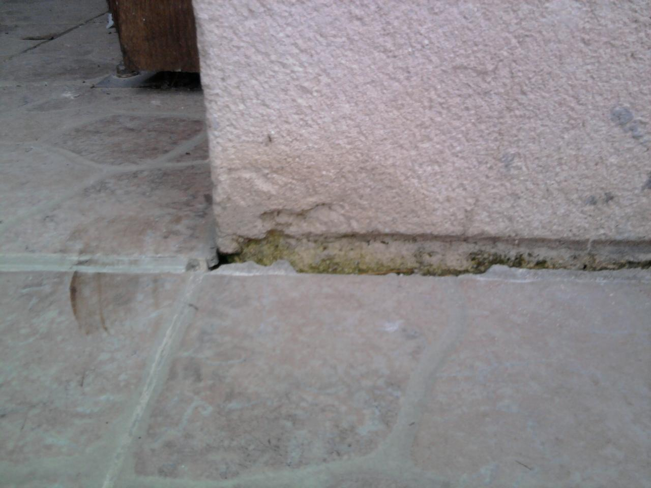 Joint entre carrelage terrasse et bas maison for Joints de carrelage