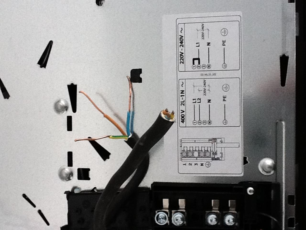 Comment brancher une plaque de cuisson - Comment brancher une gaziniere electrique ...