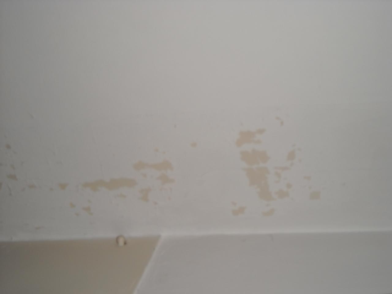 Peinture qui s 39 fritte sur mur et plafond - Retouche peinture plafond ...