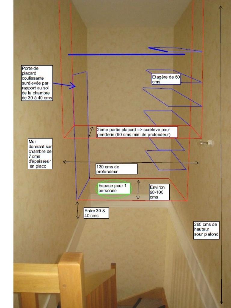 fixer 1 placard dans le vide d 39 une cage d 39 escalier entre 2 murs. Black Bedroom Furniture Sets. Home Design Ideas