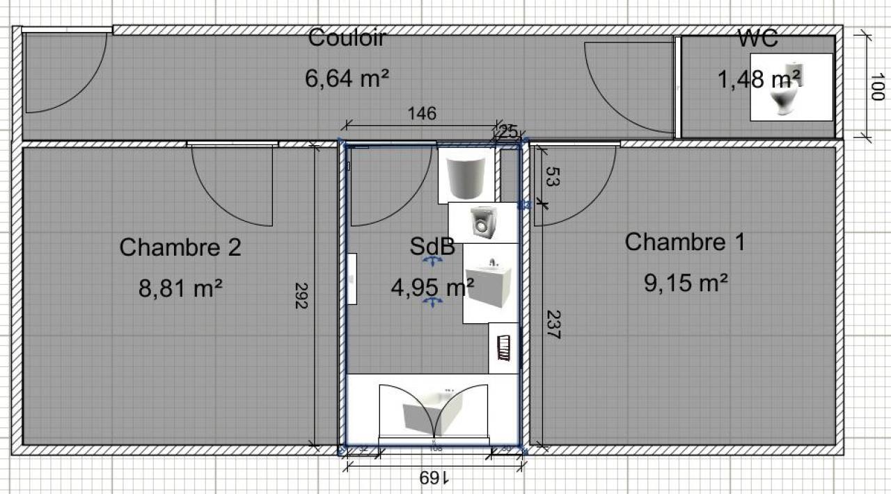 Wc dans salle de bain ou separe solutions pour la for Salle de bain avec wc separe