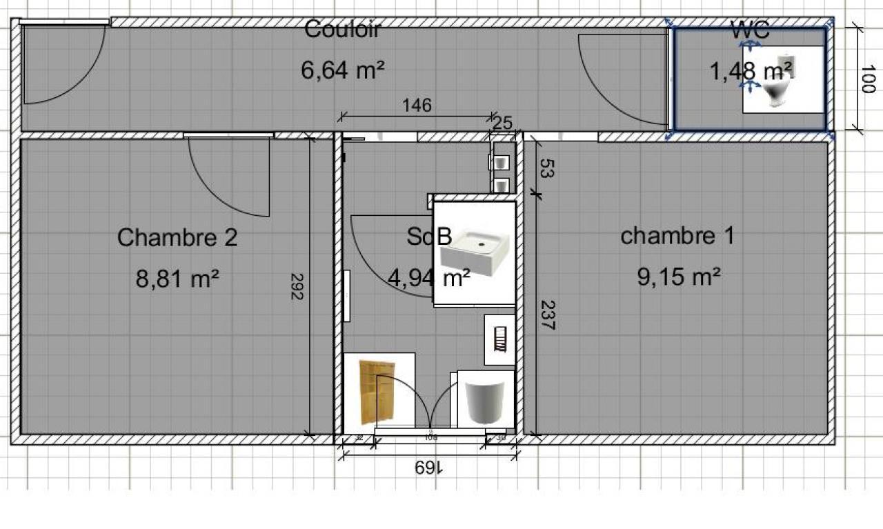 Conseils sur un devis salle de bain wc s par vos - Plan de toilette salle de bain ...