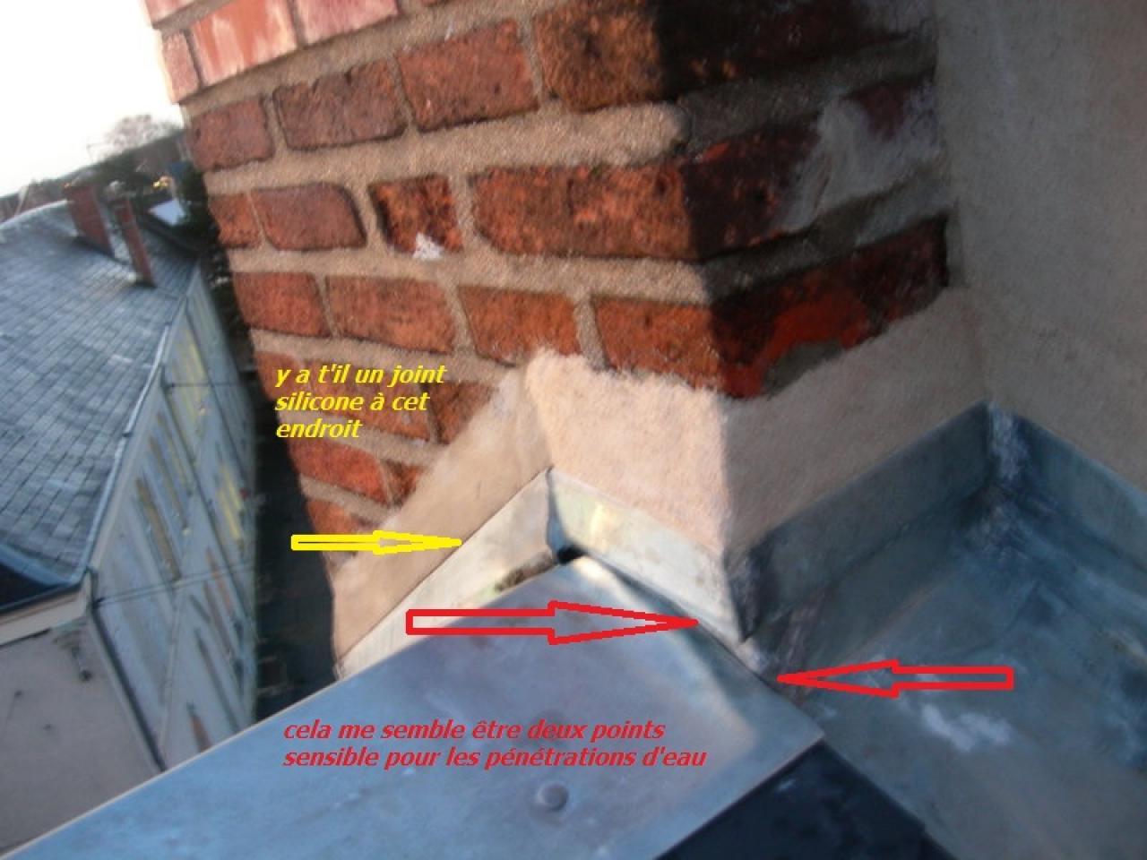 Etancheite souche cheminee rev tements modernes du toit for Refection cheminee exterieure