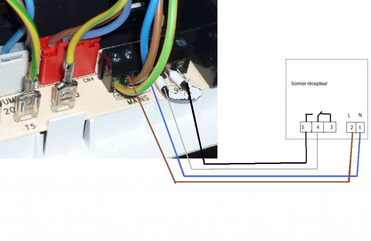 branchement thermostat sur viessmann vitopend 100