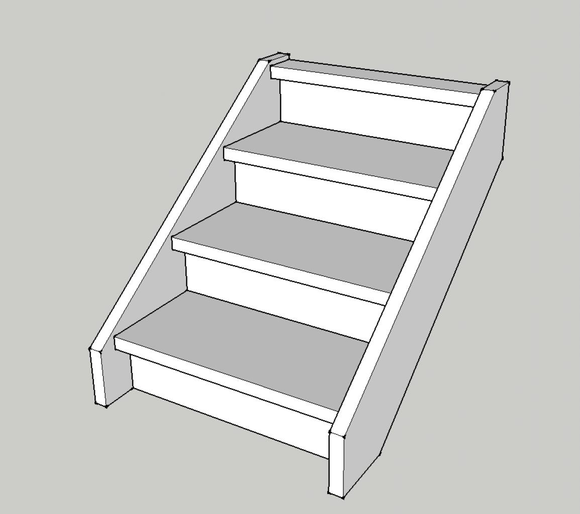 Cr er un petit escalier en bois de 3 marches for Petit escalier exterieur