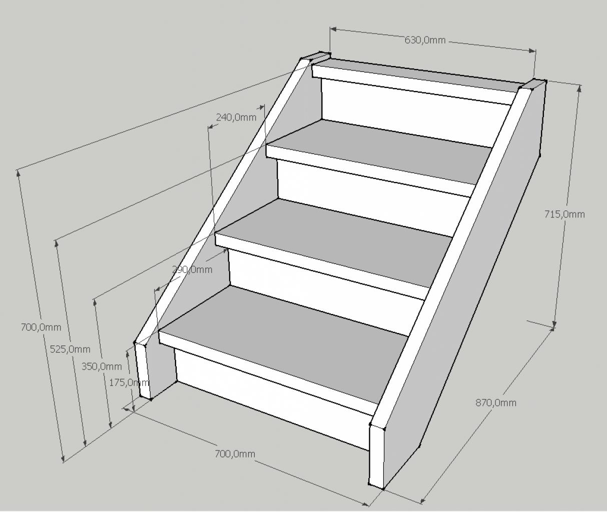 Cr er un petit escalier en bois de 3 marches for Plan escalier exterieur bois