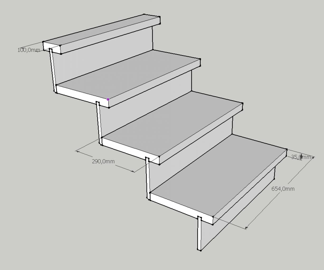 cr er un petit escalier en bois de 3 marches. Black Bedroom Furniture Sets. Home Design Ideas