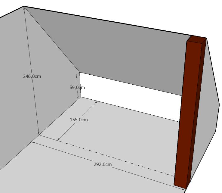 dressing dans chambre mansard e. Black Bedroom Furniture Sets. Home Design Ideas