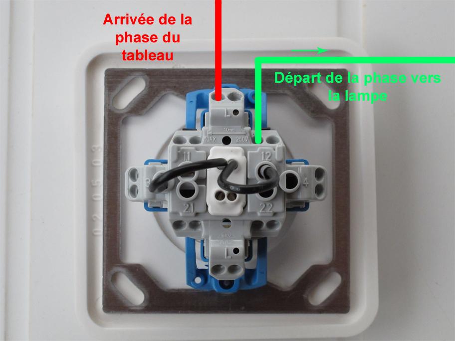 Branchement interrupteur avec voyant for Interrupteur exterieur legrand