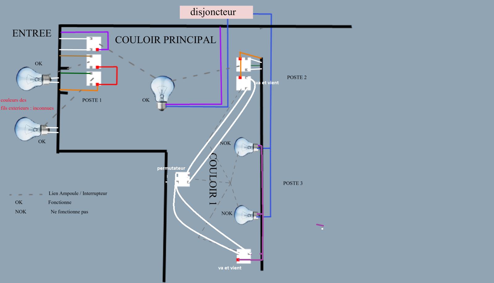 soucis interrupteurs de couloirs montage en cage d 39 escaliers. Black Bedroom Furniture Sets. Home Design Ideas