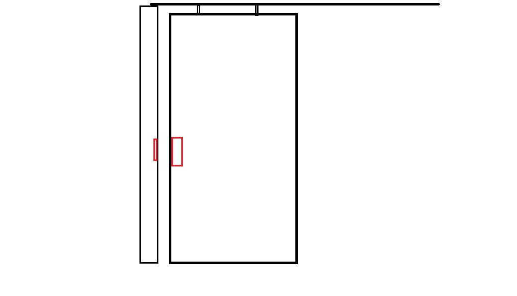 besoin de vous pour une porte coulissante. Black Bedroom Furniture Sets. Home Design Ideas