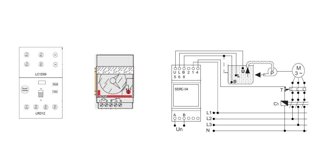 branchement contacteur et relais thermique conseils