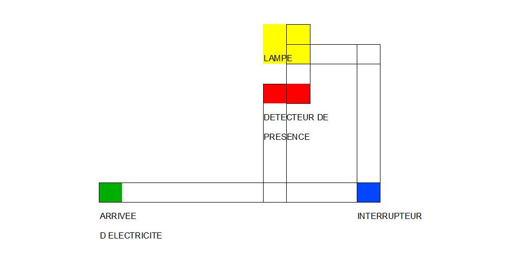 circuit pour projecteur ext rieur detecteur interrupteur. Black Bedroom Furniture Sets. Home Design Ideas