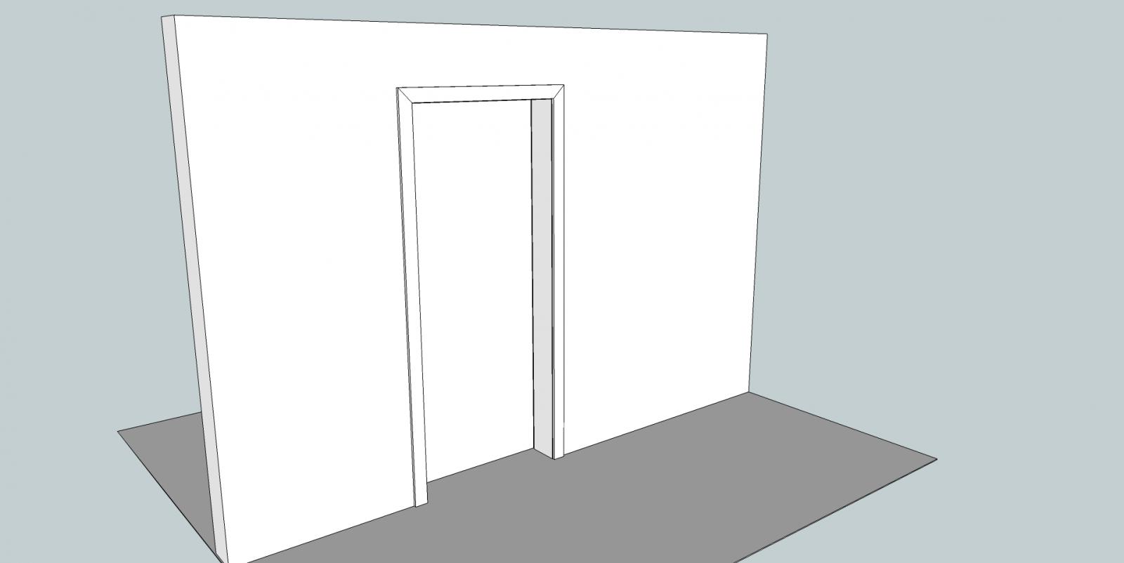 porte coulissante en applique probl me de dimensions. Black Bedroom Furniture Sets. Home Design Ideas