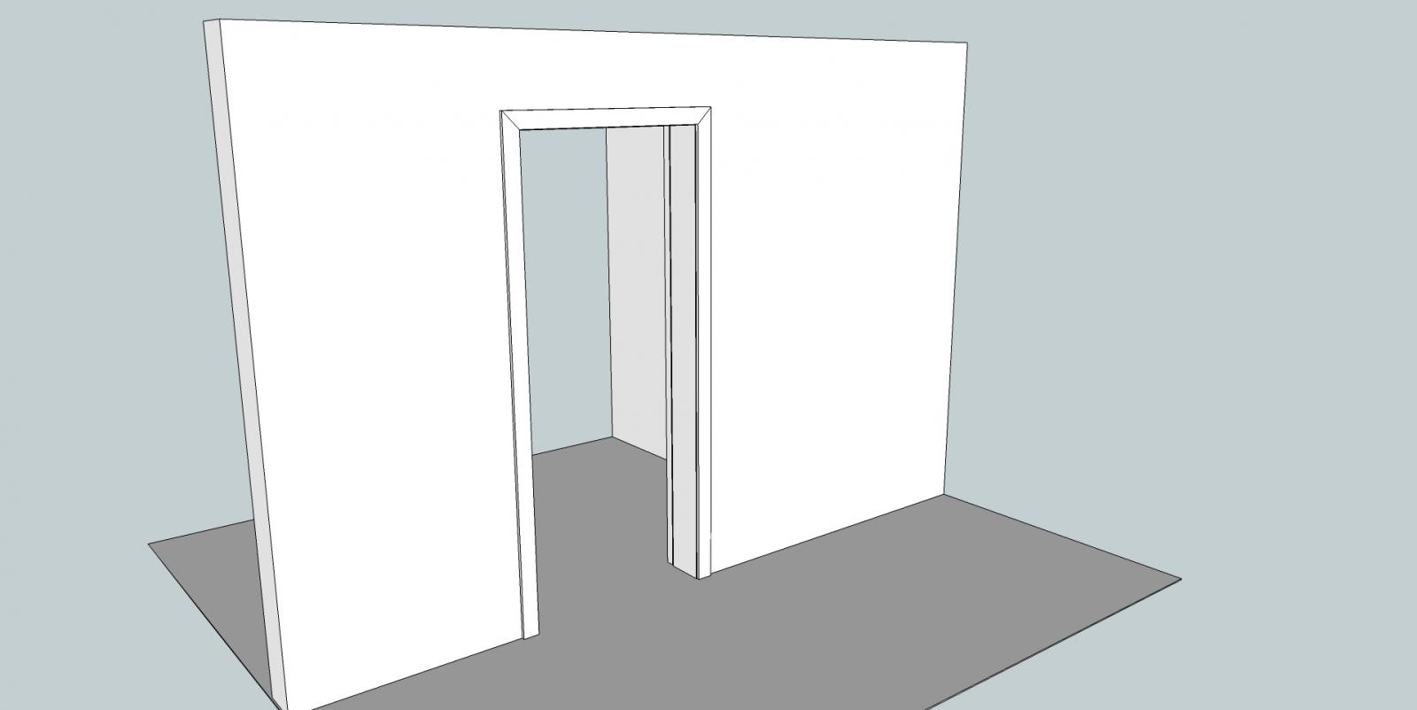 Porte coulissante en applique probl me de dimensions - Dimensions porte coulissante ...