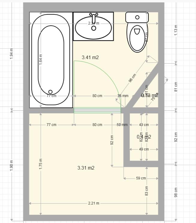 Dimension salle de bain for Mesure standard baignoire