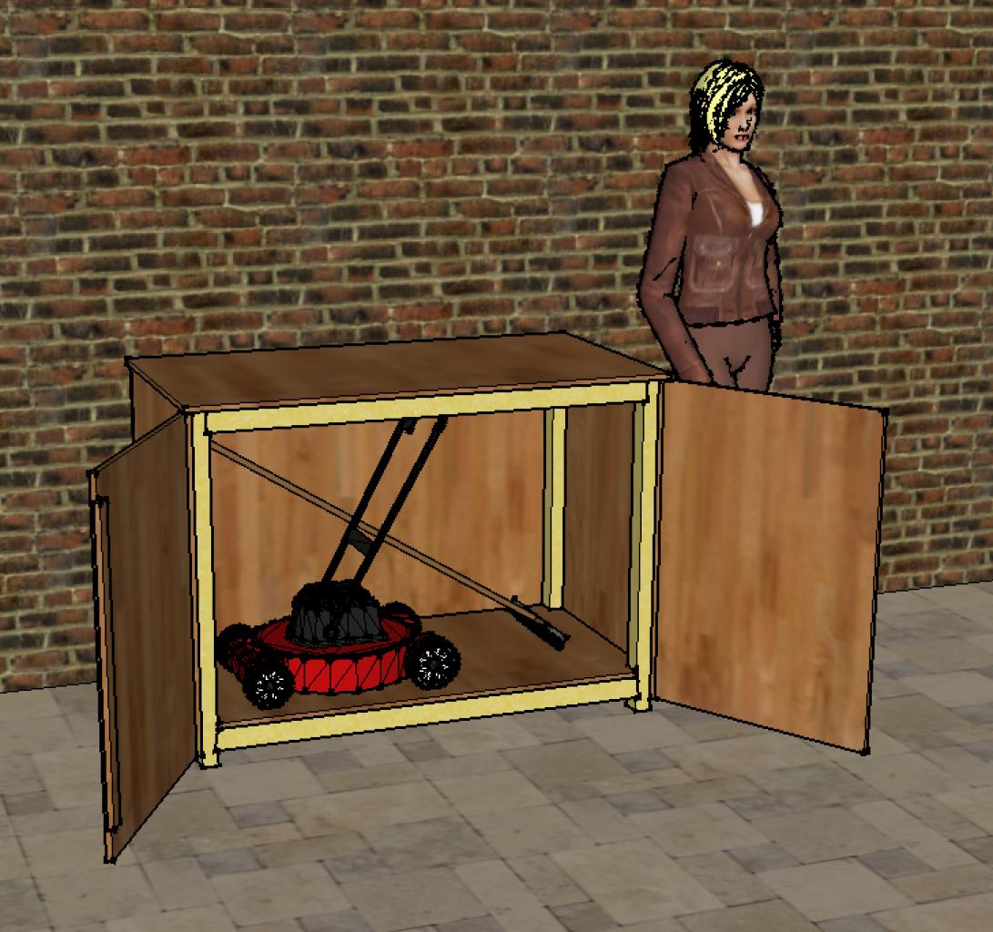 Coffre de jardin pour ranger les outils de jardin