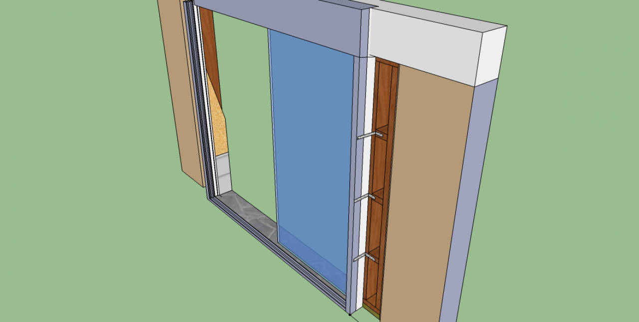 Besoin de votre avis pour pose d 39 une baie avec volet - Pose d une porte coulissante en applique ...